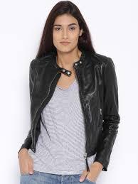 mango black leather biker jacket