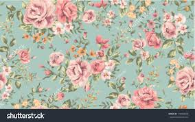 Flower Pattern Wallpaper Enchanting Classic Wallpaper Seamless Vintage Flower Pattern Stock Vector