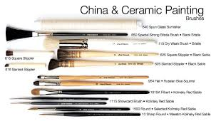 brushes for china and ceramic painting