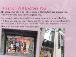 the importance of fashion ppt video online  fashion will express you