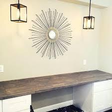 diy built in desk built in desk using butcher block and home depot desk height cabinets