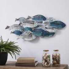 home décor metal fish wall decor