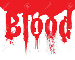 Pool Word Pool Of Blood With The Word Blood Wrote In It That Could Be Stock
