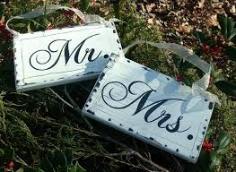 mr mrs wedding signs chair signs rustic wedding signs wood signs painted signs