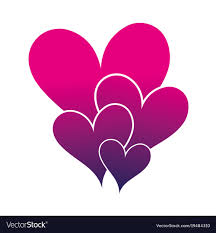 hearts silhouette silhouette hearts passion art decoration design vector image