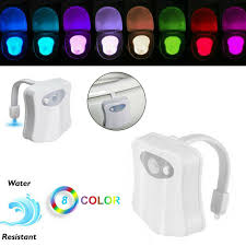 Bathroom Led Night Lights Details About Motion Sensor Toilet Bowl Led Night Light Bathroom Seat Lamp Flexible 8 Color Rd