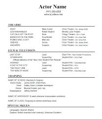 Audition Resume Template Best Example Of A Dance Resume Dance Audition Resume Dance Resume