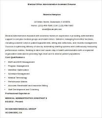 medical office administrative assistant resume sample sample of a medical assistant resume