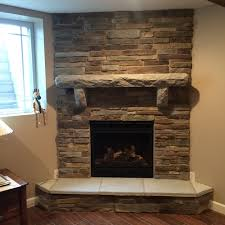 concrete limestone mantle napoleon gas direct fireplace