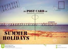 Retro Holidays Retro Vintage Summer Holidays Vacation Postcard Stock Photo Image