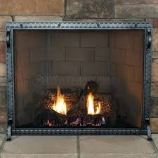 single panel fireplace screen screens heritage black