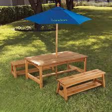 kids wooden picnic table set