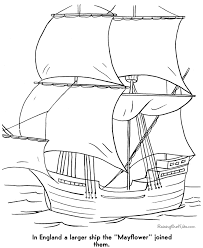 Pilgrims Mayflower Coloring Pages 009