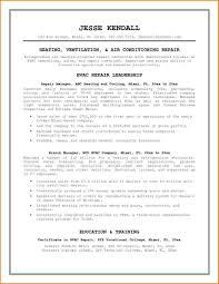 Hvac Resume Template Hvac Resume Templates Best Cover Letter 15