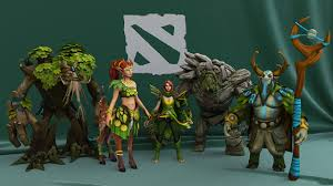 picture dota 2 tiny windrunner enchantress treant protector nature s
