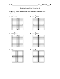 appealing pictures graphing inequalities on a coordinate plane worksheet inequality inequality worksheet worksheet um