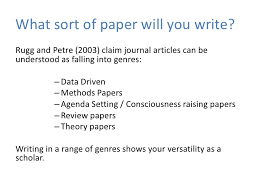 write that journal article in days 8 what sort of paper will you write