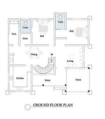 Beautiful Best bedroom house plans in kerala for Hall  Kitchen    Best bedroom house plans in kerala