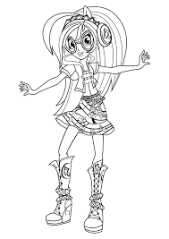 Equestria Girls Coloring Pages Printable Coloring Page For Kids