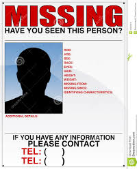 Missing Persons Posters Missing Person Poster Stock Vector Illustration Of Blue 24 12