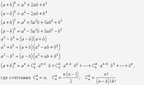 Сокращенное умножение Формулы сокращенного умножения