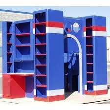 Kids Bed With Bookshelf Used Loft Beds Hypnofitmauicom