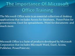 Ms Suite The Importance Of Microsoft Office Training