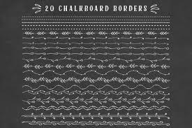 Chalkboard Border Floral Clipart Set Chalkboard Doodles Clip Art Set Chalk Borders Chalkboard Ornaments Dividers Elements