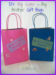 diy big sister big brother gift bags