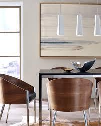 scandinavian lighting. Rhonan Pendant From Tech Lighting. These Simple And Asymmetrical White Pendants Bring Scandinavian Style Balance To This Dining Room. Lighting S