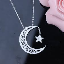 925 sterling silver necklace necklace meaning moon stars moon represents my heart