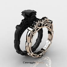 caravagio 14k black and rose gold 1 25