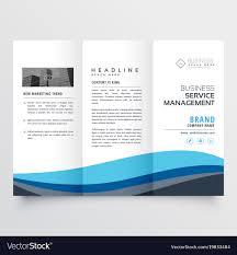 Modern Trifold Leaflet Brochure Design In Blue