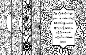 Small Picture 5 Bible Verse Coloring Pages Floral Frames Inspirational