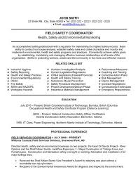 Marvellous Health Safety Manager Resume Sample With Safety Manager