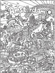 Kleurplaat Kleurplaat Voor Volwassenen Amsterdam Kleurplatennl