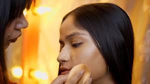 an indian makeup artist busy stock