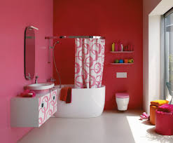A hot-pink and white bathroom by the Swiss company Laufen. Credit photo  courtesy of LAUFEN