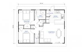granny flat house plan 2 bedroom 60m2