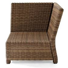 chair cool outdoor wicker chair cushions elegant crosley biltmore outdoor wicker sectional corner chair superb