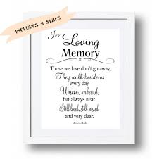 In Loving Memory Quotes Inspiration Wedding Memorial Table In Loving Memory Printable Memorial Etsy