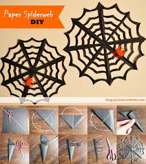 DIY: How to Make a Paper Spider Web. The easiest and cheapest Halloween  handcraft! Check the original post to see the whole illustrated step-by-ste