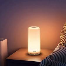 Xiaomi Philips Zhirui Smart Led Bedside Lamp Rgbw Dimmable Night Light Wifi Bluetooth App Control Ac100 240v