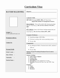 Resume For Freshers Download Now 50 Inspirational Hr Resume Format