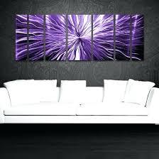 purple metal wall decor modern contemporary abstract metal wall sculpture art work painting home decor purple