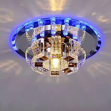 Đèn Chùm Trang Trí Nhà Hiện Đại Gương 3W Đèn LED Treo Trần Hành Lang Hành  Lang Lối Đi Hình Tròn Bằng Pha Lê Cho Phòng Khách