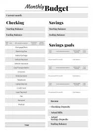 Personal Weekly Budget Templates Printable Budget Templates Download Pdf A4 A5 Letter Size