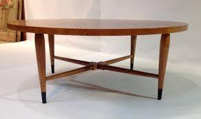 vintage coffee table vintage mid century round walnut coffee table for lane acclaim