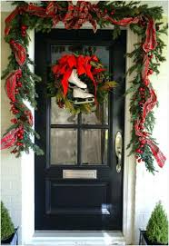 Front Door Garland  Lovely Lighted For Handballtunisie Org
