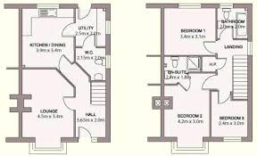 3 Bed Detached House Plans Two Bedroom Semi Detached House Plan Home  Mansion 3 Bedroom Semi .